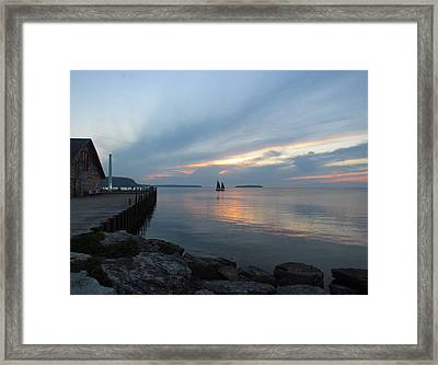 Anderson Dock Sunset Framed Print