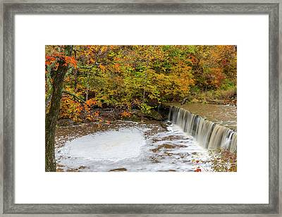 Anderson Falls On Fall Fork Of Clifty Framed Print by Chuck Haney