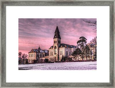Anderson Hall Framed Print by Corey Cassaw