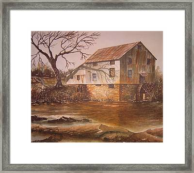 Anderson Mill Framed Print by Ben Kiger