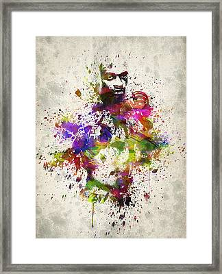 Anderson Silva Framed Print by Aged Pixel