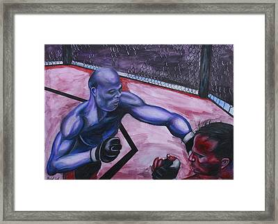 Anderson Silva Vs. Rich Franklin Framed Print by Michael Cook