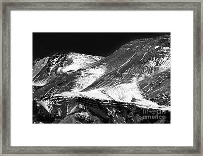 Andes Curves Framed Print by John Rizzuto