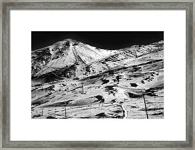 Andes Ski Slope Framed Print by John Rizzuto