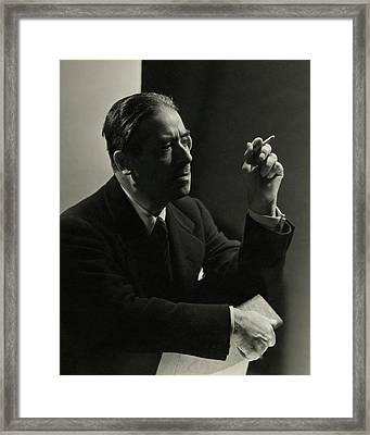 Andre Geraud Smoking Framed Print
