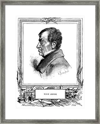 Andre-marie Ampere, French Physicist Framed Print by Spl