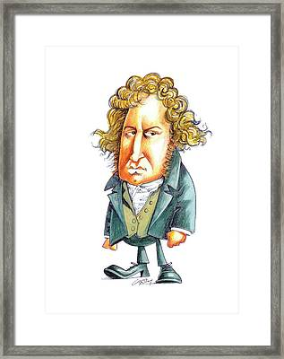 Andre-marie Ampere Framed Print by Gary Brown