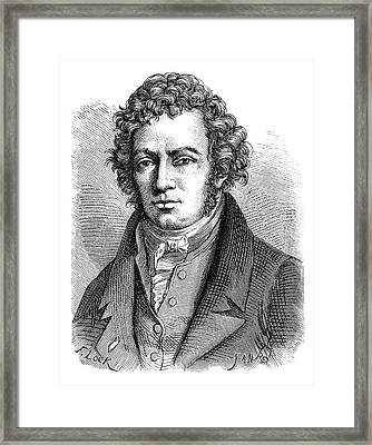 Andre-marie Ampere Framed Print by Science Photo Library