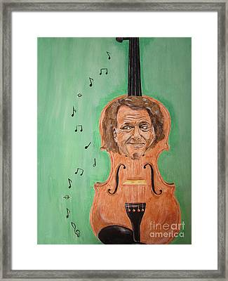 Framed Print featuring the painting Andre Rieu And His Violin by Jeepee Aero