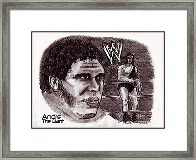 Andre The Giant Framed Print by Chris  DelVecchio