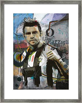 Andrea Barzagli Framed Print by Corporate Art Task Force