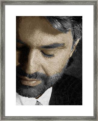 Andrea Bocelli And Vertical Framed Print by Tony Rubino