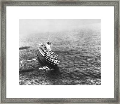 Andrea Doria Before Sinking Framed Print by Underwood Archives