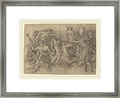Andrea Mantegna Italian, C. 1431-1506, Battle Of The Sea Framed Print by Litz Collection
