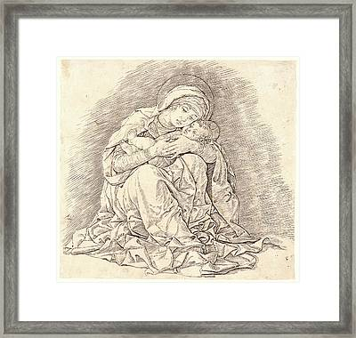 Andrea Mantegna Italian, Ca. 1431 - 1506. The Virgin Framed Print by Litz Collection