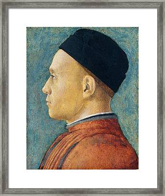 Andrea Mantegna, Portrait Of A Man, Italian Framed Print
