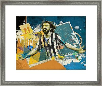 Andrea Pirlo - B Framed Print by Corporate Art Task Force