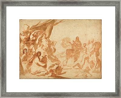 Andrea Sacchi Italian, 1599 - 1661, A Sacrifice To Pan Framed Print