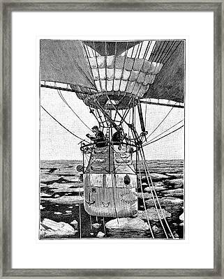 Andree's Arctic Balloon Expedition Framed Print by Science Photo Library