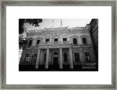andres bello academia diplomatica de chile in edwards palace Santiago Chile Framed Print by Joe Fox