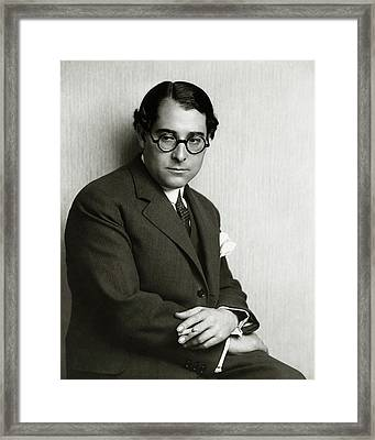 Andres Segovia Smoking Framed Print
