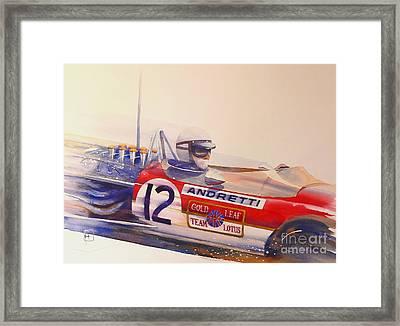 Andretti Framed Print by Robert Hooper