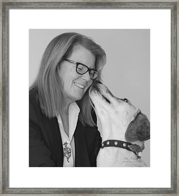 Andrew And Andree Bw Framed Print