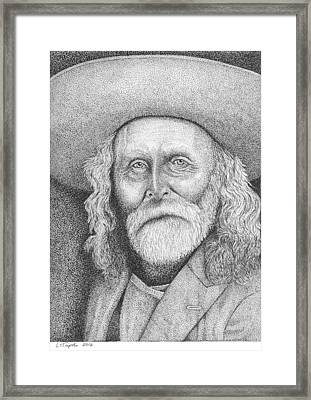 Andrew Garcia - Frontiersman Framed Print by Lawrence Tripoli