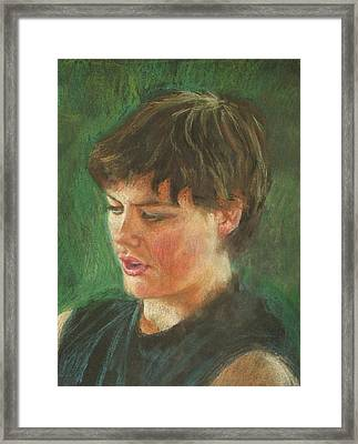 Andrew In Conte. Framed Print