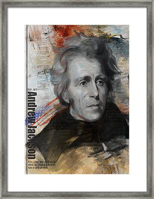 Andrew Jackson Framed Print by Corporate Art Task Force