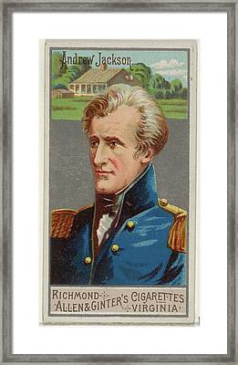 Andrew Jackson, From The Great Generals Framed Print by Allen & Ginter