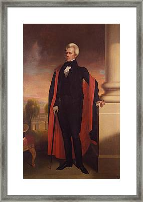 Andrew Jackson Standing Framed Print by War Is Hell Store
