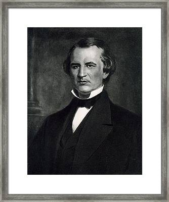 Andrew Johnson  Framed Print by American School