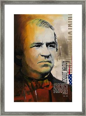 Andrew Johnson Framed Print by Corporate Art Task Force
