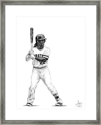 Andrew Mccutchen Framed Print by Joshua Sooter