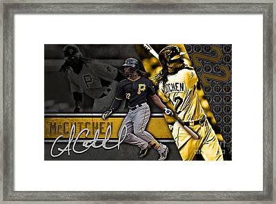 Andrew Mccutchen Framed Print by Marvin Blaine
