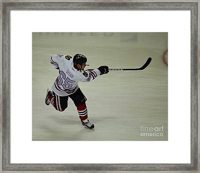 Andrew Shaw Fights Cancer Framed Print by Melissa Goodrich