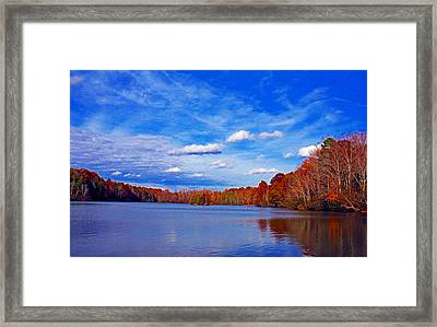 Andrew State Park Lake Framed Print by Andy Lawless