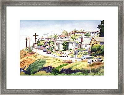 Andrews Street Mission Hills Framed Print by Mary Helmreich