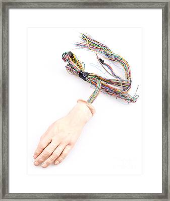 Android Hand  Framed Print by Jim Pruitt