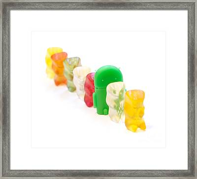 Android Line Framed Print
