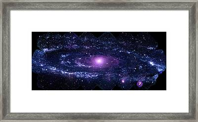 Andromeda Galaxy (m31) Framed Print by Nasa/swift/stefan Immler (gsfc) And Erin Grand (umcp)