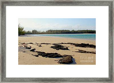Andros Beach Framed Print by Carey Chen