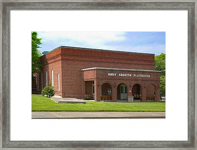 Andy Griffith Playhouse Nc Framed Print by Bob Pardue
