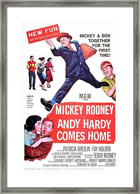 Andy Hardy Comes Home, Us Poster Framed Print