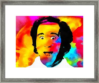 Andy Kaufman Pop Portrait Framed Print by Dan Sproul