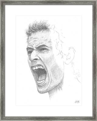 Andy Murray Sketch Framed Print by Conor O'Brien