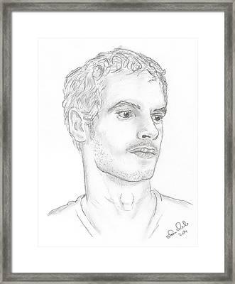Andy Murray Framed Print by Steven White