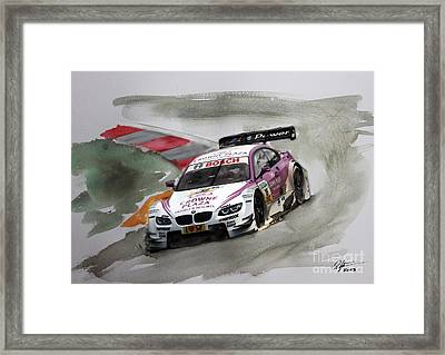 Andy Priaulx Bmw Dtm Framed Print