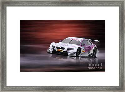 Andy Priaulx M3 Dtm 2012 Framed Print by Roger Lighterness